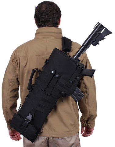 "29"" Black Tactical Rifle Scabbard MOLLE Hunting Pack w/ Adjustable Strap"