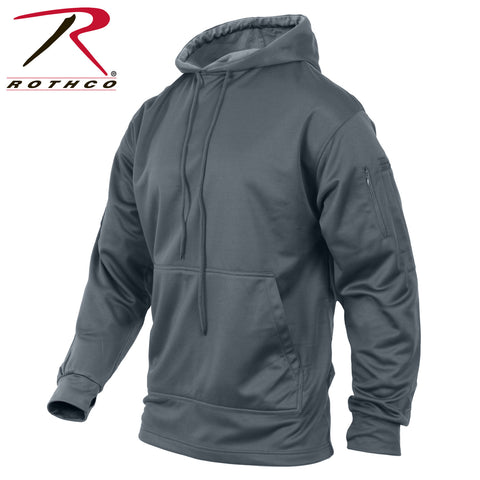 Mens Gray Concealed Carry Hooded Sweatshirt Rothco CCW Hoodie Sweat Shirt