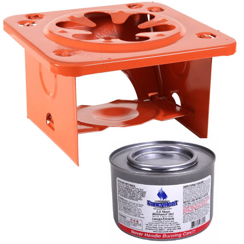 Folding Pocket Stove WITH COOKING FUEL CAN Compact Outdoor Camp Single Burner