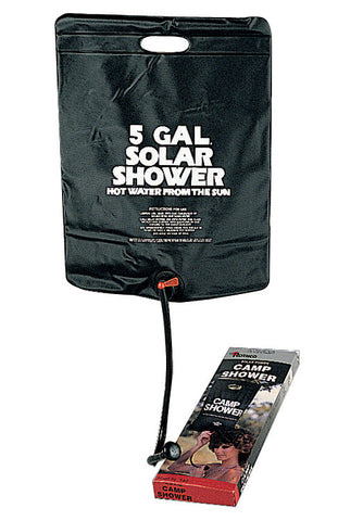 Solar Camping Shower - 5 Gallon Outdoor Solar Hot Water Shower w/ On/Off Switch