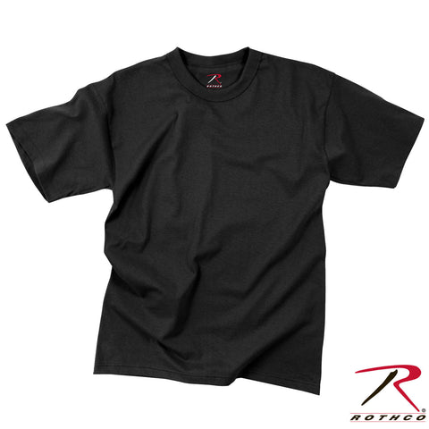 Rothco Kid's Solid Black T-Shirt - Military Type Tee