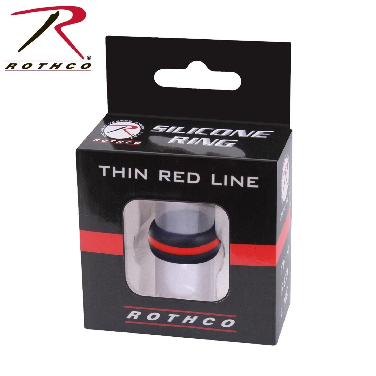 Rothco Thin Red Line Silicone Ring Mens Silicone TRL Wedding Band