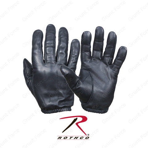 Rothco Search Gloves - Black Ultra Thin Cowhide Leather Glove
