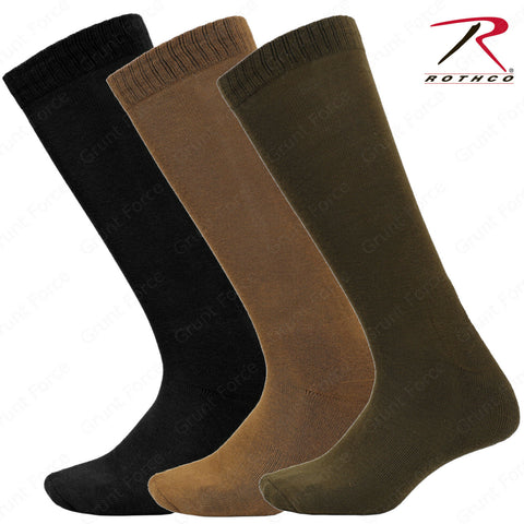Rothco Moisture Wicking Military Sock - Black, Coyote Brown or Olive Drab