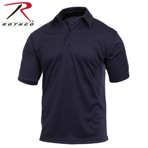 Rothco Short Sleeve Tactical Performance Polo - Men's Midnight Navy Blue Shirt