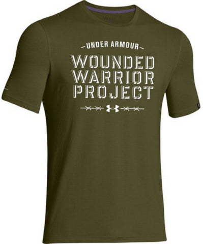 91aa06a0 Under Armour Wounded Warrior Project Barbed Wire T-Shirt - UA Mens WWP –  Grunt Force