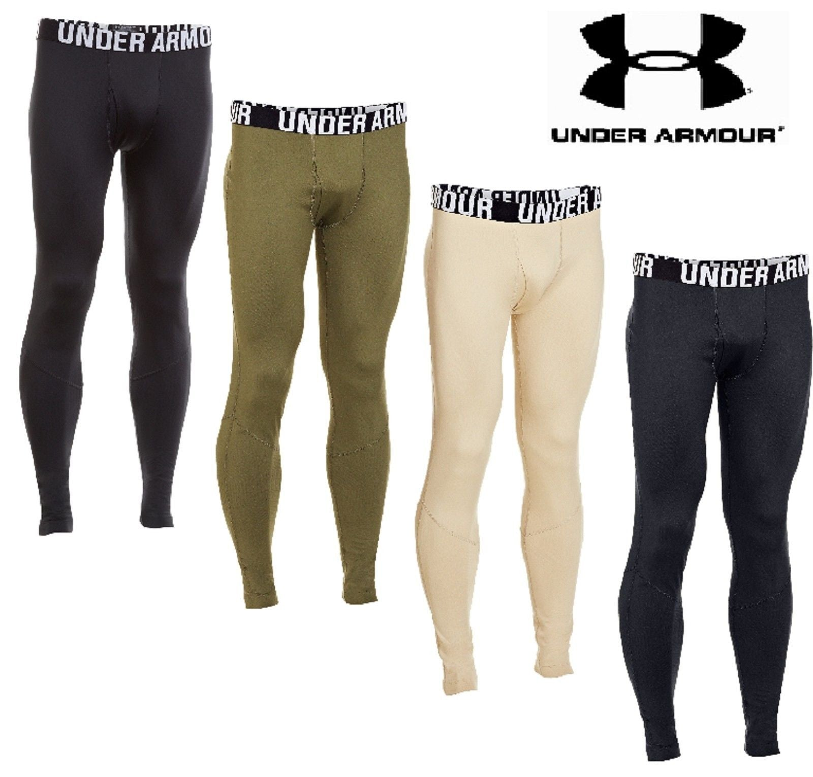 UNDER ARMOUR Men/'s Infrared Tactical Fitted Leggings Black LARGE L NEW with TAG