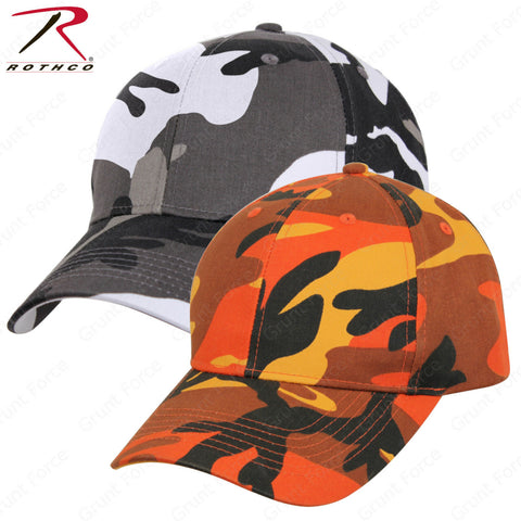 Rothco Supreme Camo Mid-Low Profile Cap Savage Orange or City Camo Baseball Hat