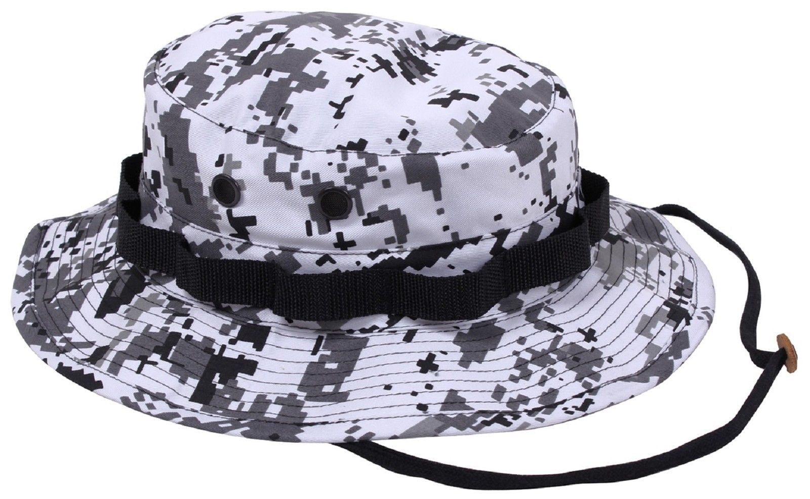 City Digital Camouflage Boonie Hat - Black   White Camo Bucket Hats ... dfc5a0be512