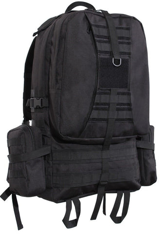 "Black 3-Day Global Assault Pack 25"" Tactical MOLLE Outdoor & Hunting Gear Bag"