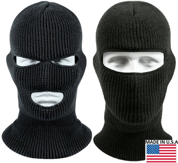 Black Wintuck Face Mask Cold Weather Winter Facemask Warm