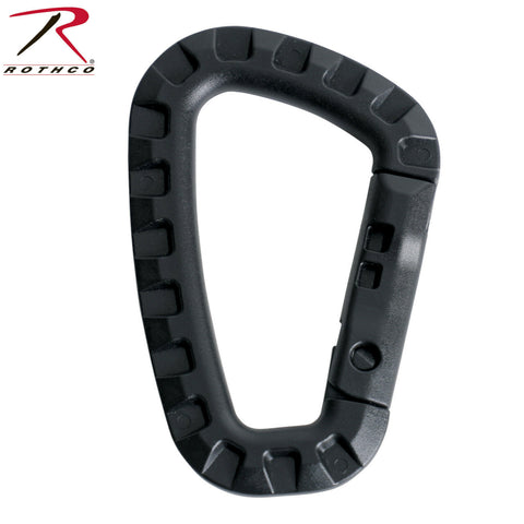 Black Tactical Polymer Carabiner -  D-Shaped Plastic Biner MPN# BNR0011