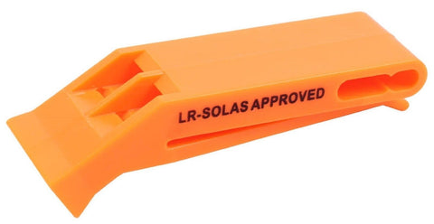 Orange Explorer Safety Whistle - SOLAS Approved Loud Noise Low Air Whistles
