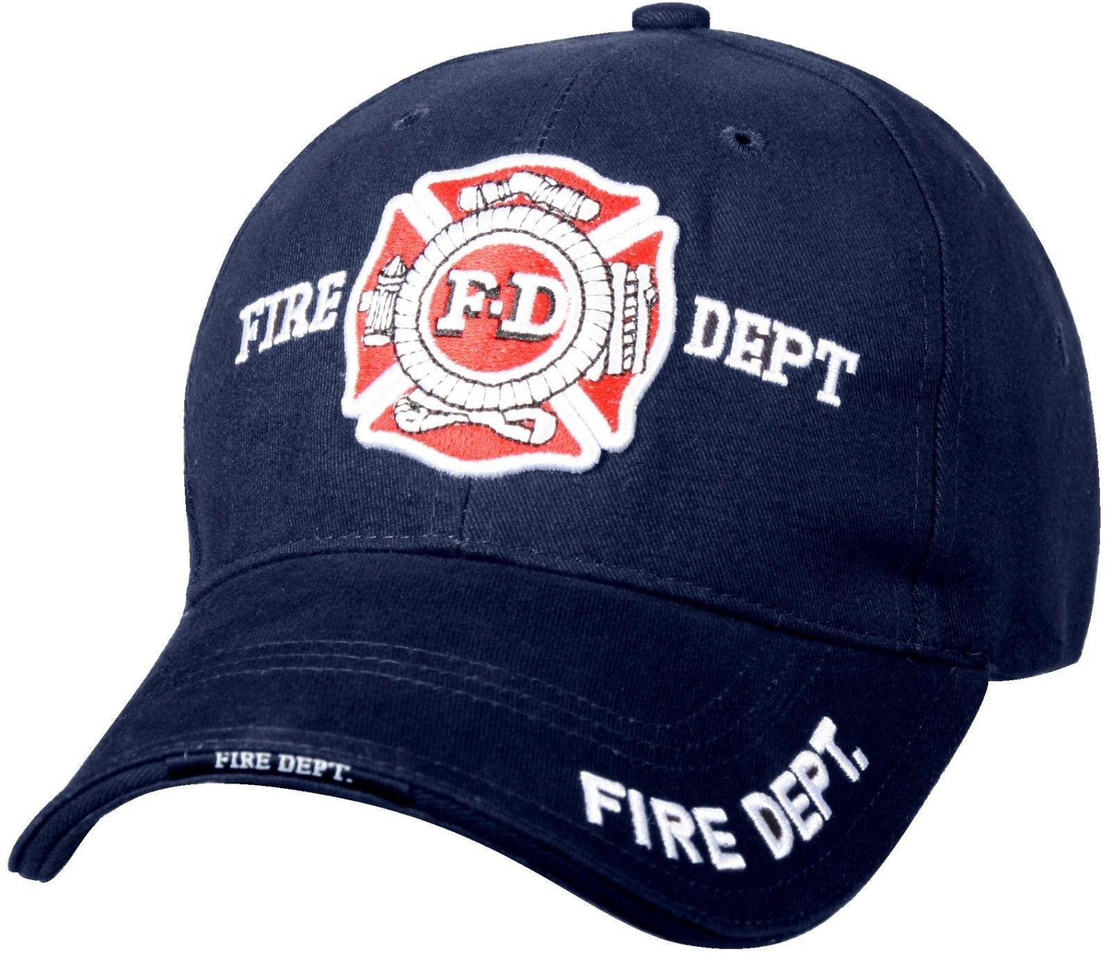 57074802a1f5a Fire Department - Navy Blue - Deluxe low Profile Baseball Cap ...