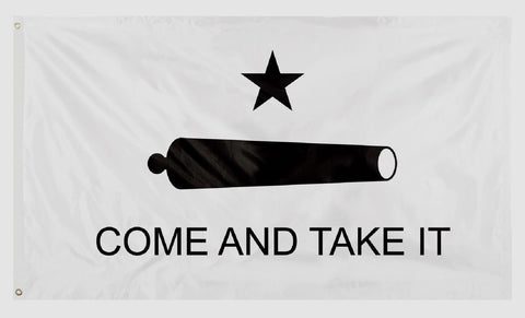 "American Patriot ""COME AND TAKE IT"" Cannon Flag - 3' x 5' Polyester Hanging Flag"