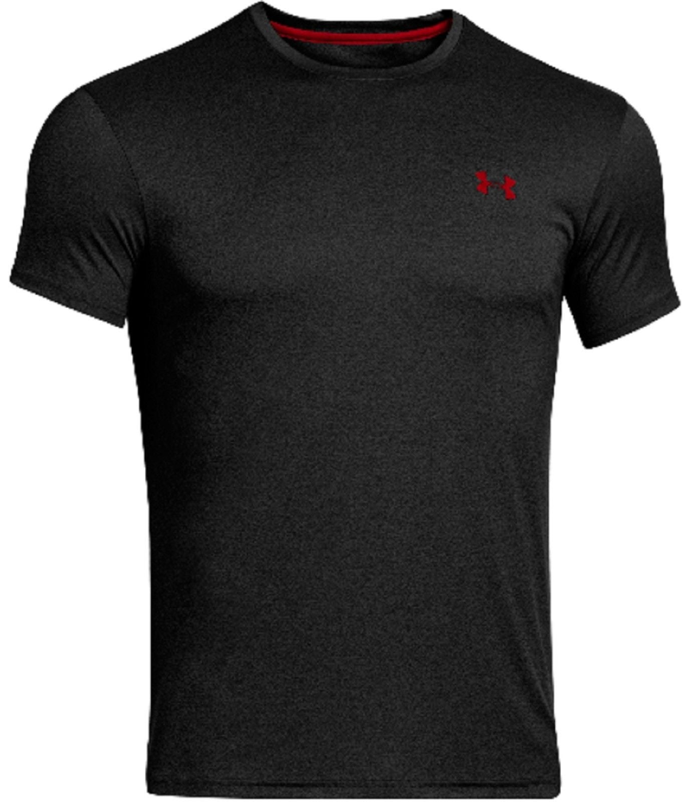 aa33b03cde1 ... Under Armour Men s Original Fitted Crew Flyweight T-Shirt - Black or  White UA White Black