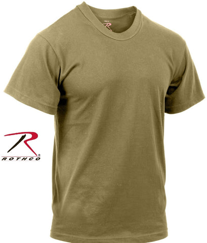 Coyote Brown AR 670-1 Regulation T-Shirt  - Cotton US Army Compliant Tee Shirt
