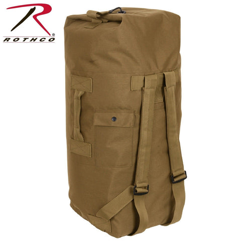 Rothco G.I. Type Enhanced Double Strap Duffle Bag - Coyote Brown Military Duffle