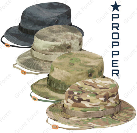 Propper® Camouflage Boonie Sun Hat - Camo Bucket Hat - Tactical Jungle Cap
