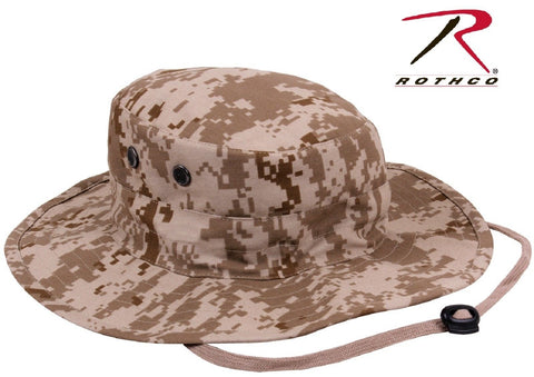 b934108745906 Rothco Desert Digital Camo Adjustable Outdoor Boonie Bucket Hat 52554