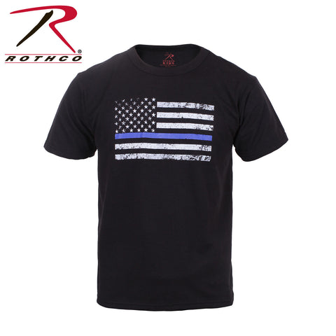 Kids Thin Blue Line US Flag Tee - Rothco TBL T-Shirt
