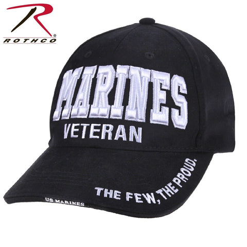 Rothco Deluxe Marines Veteran-Low Profile Cap - Tactical 6-Panel Baseball Hat