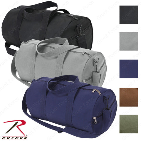 "Rothco 19"" Heavyweight Canvas Shoulder Bag - 19"" x 9"" Canvas Duffle Bag[Grey]"