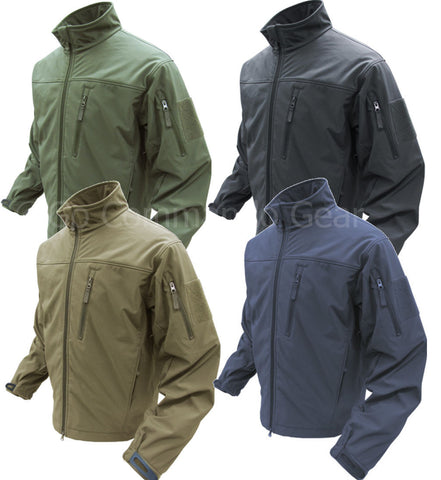Condor Outdoor Phantom Soft Shell Jacket - Tan OD Black or Navy Tactical Jackets