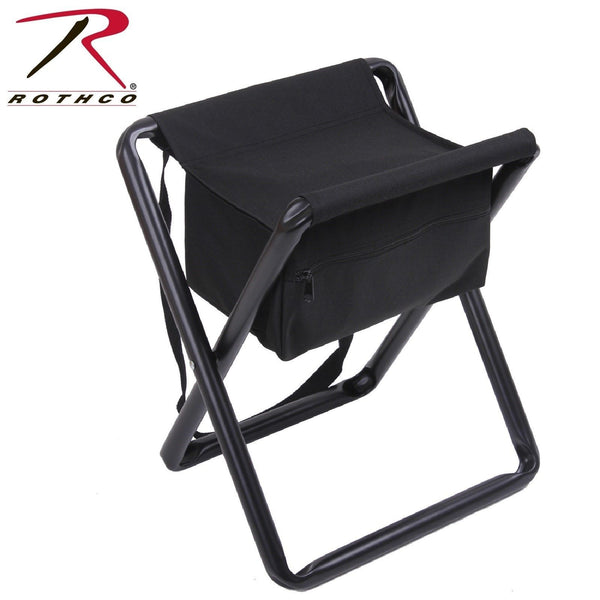 Rothco Black Deluxe Foldable Stool With Pouch Camping
