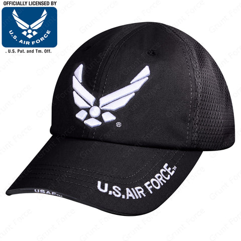 Mesh Back Tactical US Air Force Wing Cap - 6 Panel Low-Mid Profile Strapback Hat