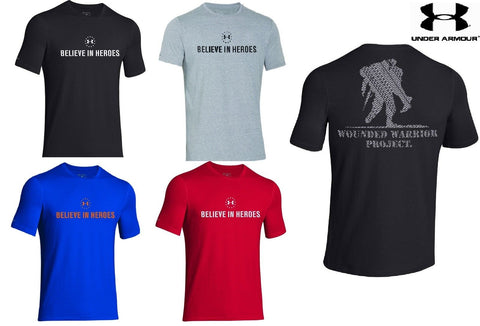 "Under Armour ""Believe In Heroes"" Wounded Warrior T-Shirt - Mens UA WWP Tee Shirt"