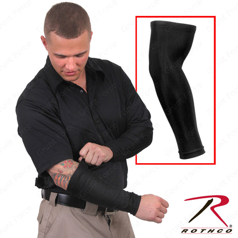 Rothco Black Tactical Cover Up Arm Sleeves - Poly Spandex Arm Sleeve