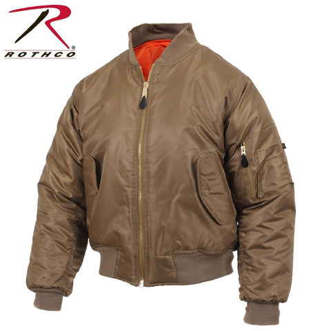 Rothco MA-1 Flight Jacket - Coyote Brown Military Style Flight/Bomber/Puffer
