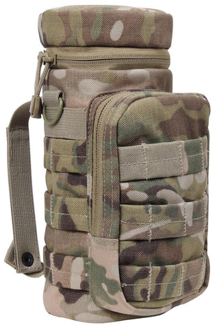 "MultiCam MOLLE Compatible Water Bottle Pouch 11"" Hunting Camping Tactical Pouch"