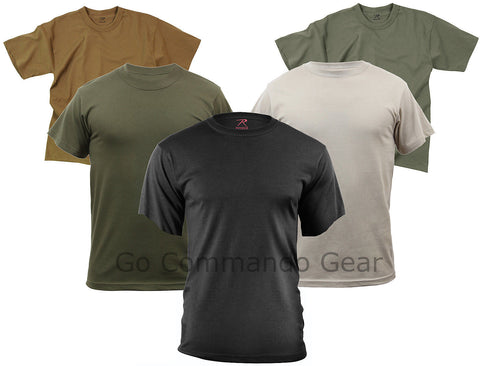 T-Shirt Variety 5 Pack All Five Solid Color 100% Cotton Short Sleeve Tees S-2XL