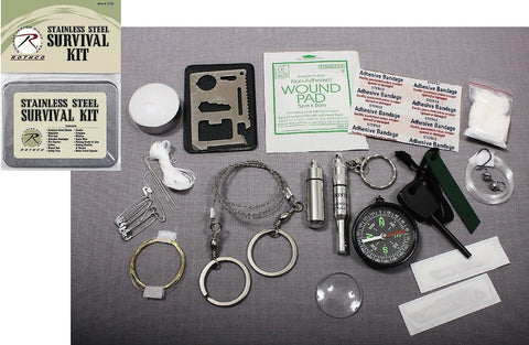 Survival Kit - Hiking, Camping, Hunting Outdoor Emergency Tin w/ Many Items