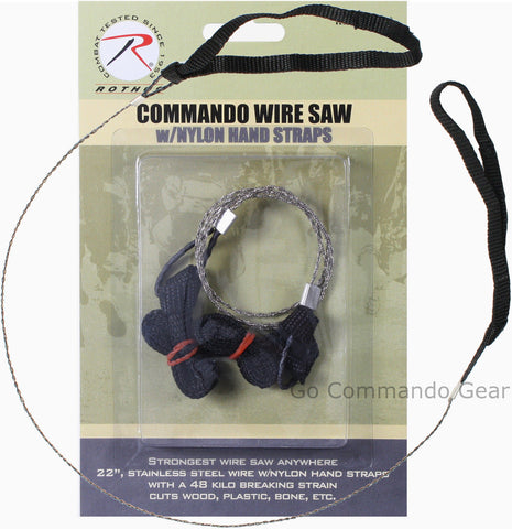 Commando Wire Saw W/ Nylon Hand Straps - Camping Hiking Survival Tactical