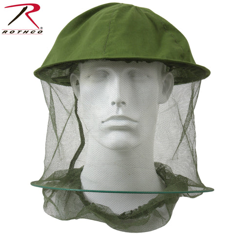 Rothco G.I. Type Olive Drab Mosquito Head Net - Ties At Neck With Hoop