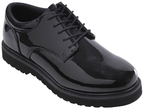 Men's Mirror-Finish Uniform Oxford Cushioned Work Sole Shoes