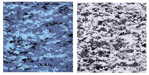 "22"" Digital Camouflage Bandana - Sky Blue or Black & White City Digital Camo"