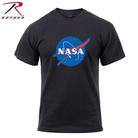 Rothco NASA Meatball Logo T-Shirt - Black Tee with Red/White/Blue NASA Logo