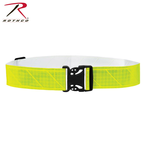 Rothco Lightweight Reflective Army Physical Training Belt - Hi-Viz Neon Yellow