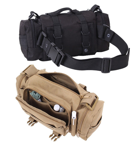 "14"" Tactical Converti-Pack Bag - Black & Coyote Brown MOLLE Convertible Pack"