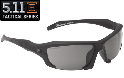 5.11 Tactical Black Burner Half Frame Sunglasses w/ 3 Interchangeable Lenses