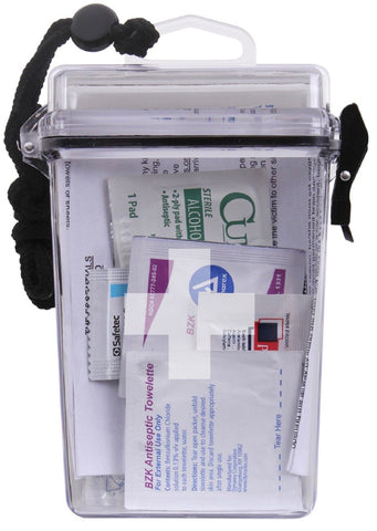 "Rothco Clear Waterproof First Aid Kit Container - 6"" Plastic Case with Cross"