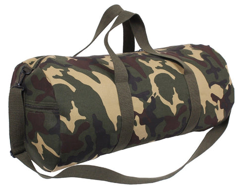 "24"" Woodland Camouflage Heavyweight Cotton Canvas Shoulder Messenger Bag 2234"