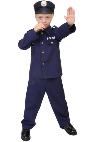 Kids Police Costume - Child Cop Uniform Outfit - Halloween, Dress Up, Play Time