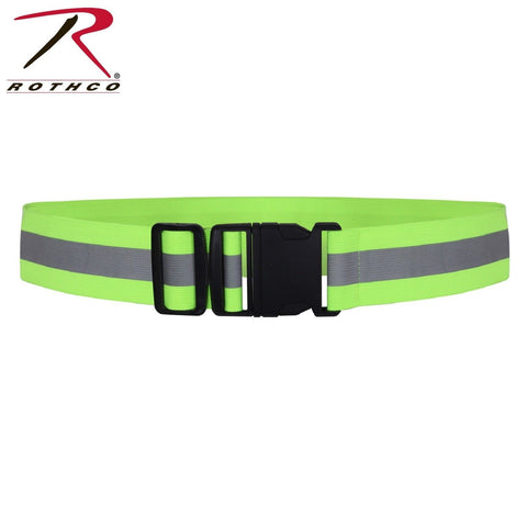 Rothco Reflective Elastic PT Belt - Adjustable Neon Reflective Safety Belt