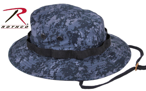 0e7b08b4a963d2 Midnight Blue Digital Camo Boonie Hat - Dark Navy & Black Camouflage Bucket  Hats