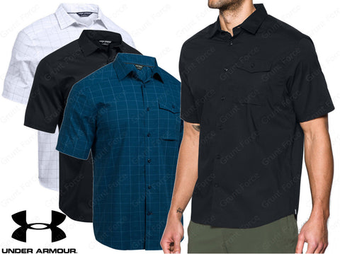 Under Armour Men's Tactical Button-Down Short Sleeve Shirt - Full Cut Shirt
